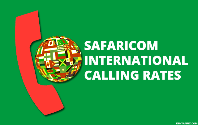 safaricom international call rates
