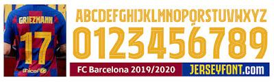 Fc Barcelona Font 2019 2020 2021