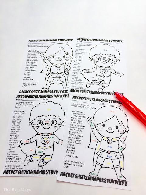 Sight Word Superhero Activities