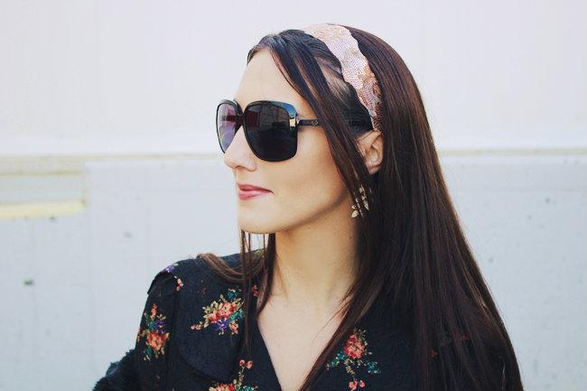 Gucci black square shaped sunglasses