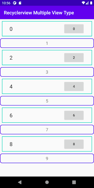 android recyclerview multiple view type example kotlin