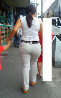 Sexi señora pantalones apretados