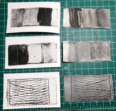 texture tests from pasta machine printing Judith Hoffman