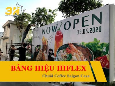 Làm bảng hiệu hộp đèn hiflex cho doanh nghiệp