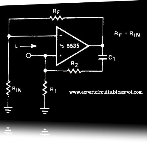 simulated inductor circuit diagram