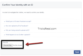 facebook account verify using id