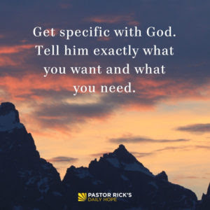 Instead of Worrying, Start Praying by Rick Warren