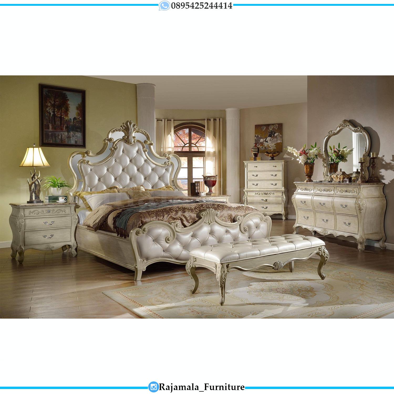 Luxury Set Tempat Tidur Ukir Jepara White Ivory Great Solid Color RM-0083