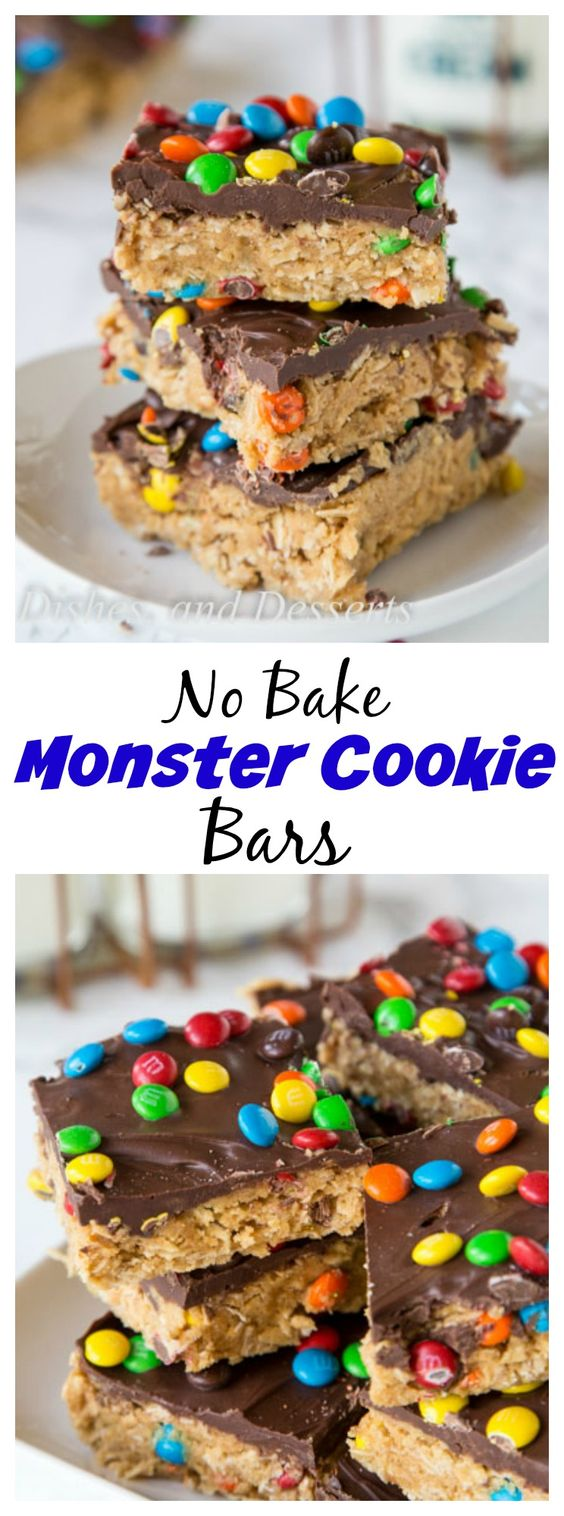 MONSTER COOKIE NO BAKE BARS #cookie #cookierecipes #nobake #bars #dessert #dessertrecipes #easydessertrecipes Desserts, Healthy Food, Easy Recipes, Dinner, Lauch, Delicious, Easy, Holidays Recipe, Special Diet, World Cuisine, Cake, Grill, Appetizers, Healthy Recipes, Drinks, Cooking Method, Italian Recipes, Meat, Vegan Recipes, Cookies, Pasta Recipes, Fruit, Salad, Soup Appetizers, Non Alcoholic Drinks, Meal Planning, Vegetables, Soup, Pastry, Chocolate, Dairy, Alcoholic Drinks, Bulgur Salad, Baking, Snacks, Beef Recipes, Meat Appetizers, Mexican Recipes, Bread, Asian Recipes, Seafood Appetizers, Muffins, Breakfast And Brunch, Condiments, Cupcakes, Cheese, Chicken Recipes, Pie, Coffee, No Bake Desserts, Healthy Snacks, Seafood, Grain, Lunches Dinners, Mexican, Quick Bread, Liquor