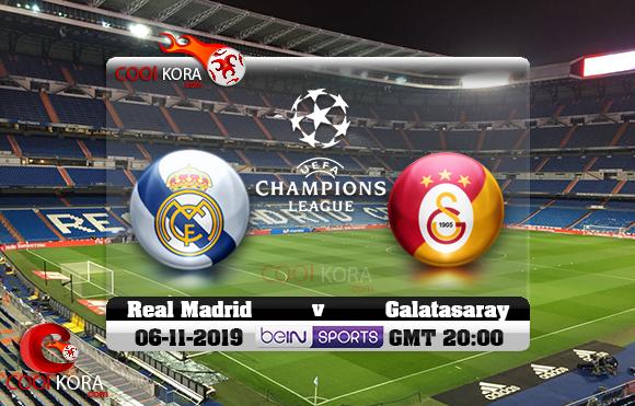 مشاهدة مباراة ريال مدريد وغلطة سراي اليوم 6-10-2019 في دوري أبطال أوروبا