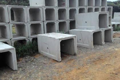 Update Harga U-ditch beton terbaru 2021