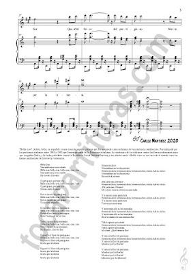 3 LETRA Saxofón Alto y Sax Barítono Partitura de Bella Ciao a Dúo con Piano Acompañamiento Sheet Music for Alto and Baritone Saxophone Music Scores   PDF/MIDI de Saxofón Mib