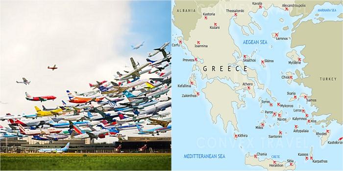 Elenco aeroporti isole greche con mappa