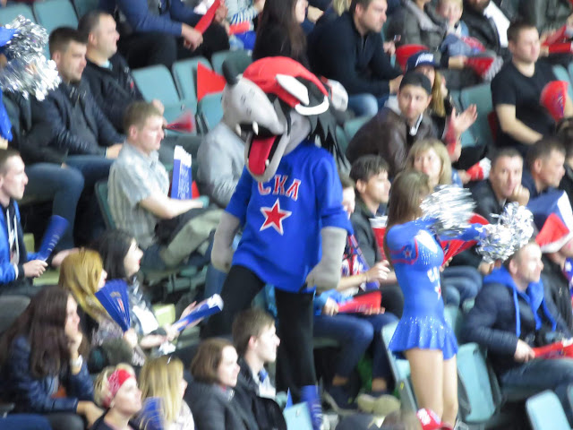 St. Petersburg SKA big bad wolf mascot