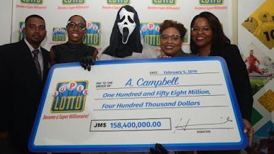 Jamaican lottery winner wears 'Scream' mask to hide identity