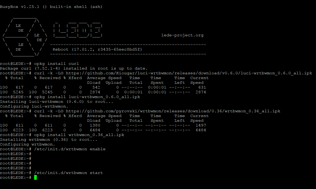 12897070056: Lede integrated bandwidth monitoring per client Install