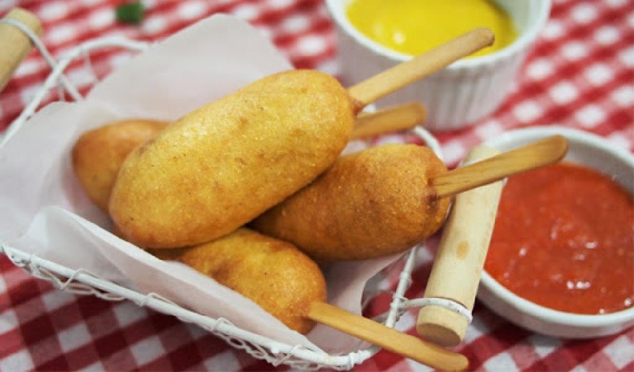 Corn Dog Mozzarella, Camilan Para Drakor