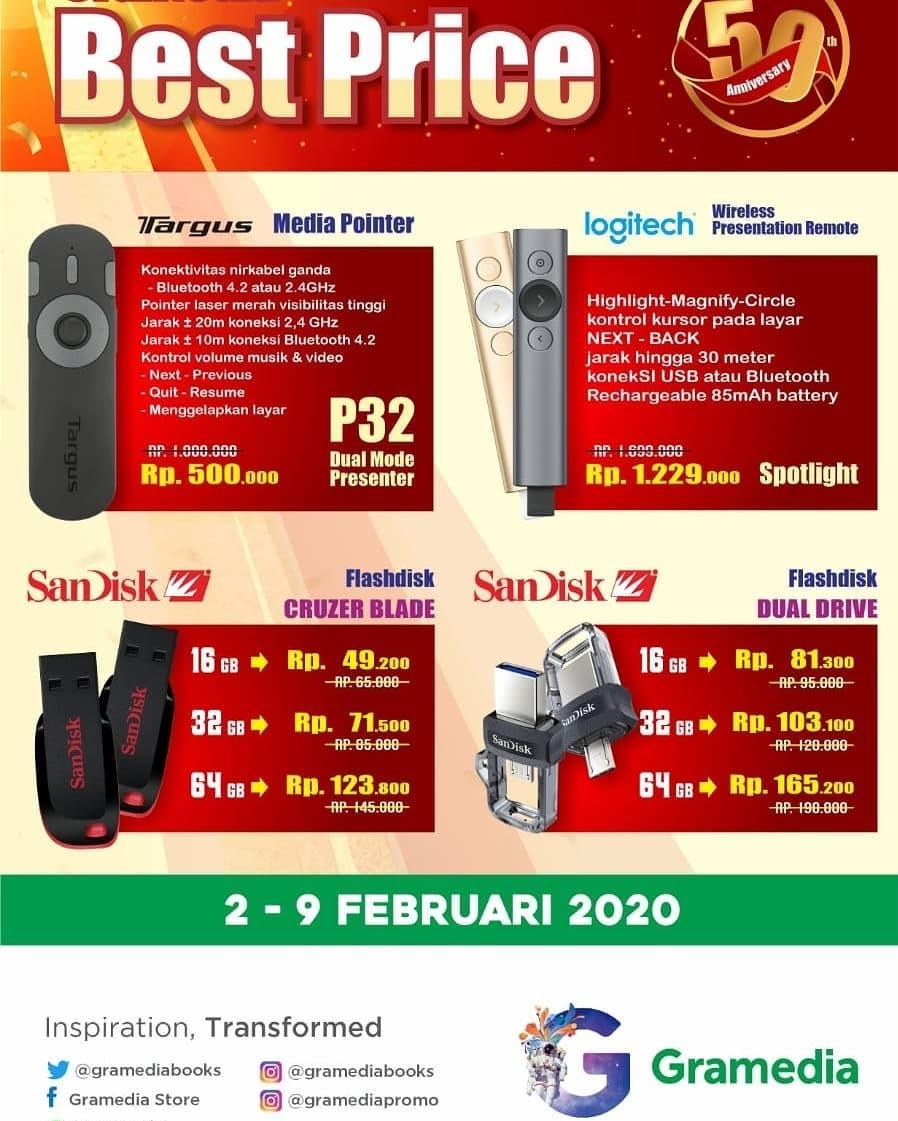 Promo Toko GRAMEDIA Best Price Anniversary Februari 2020