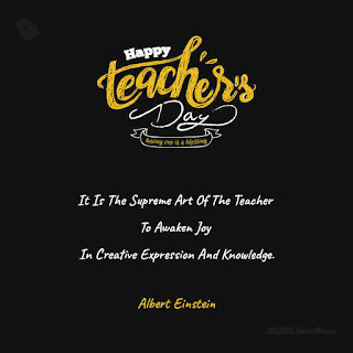Albert Einstein Quote - Happy Teachers Day