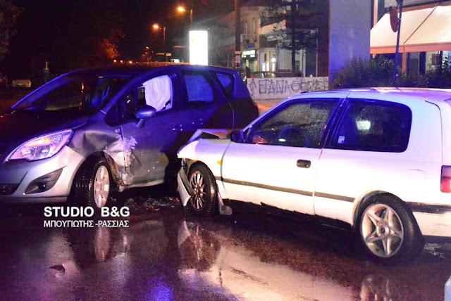 Τροχαίο ατύχημα στο Άργος - Τραυματίες οι οδηγοί