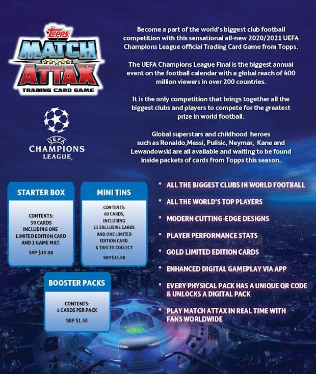 football cartophilic info exchange topps uefa champions league match attax 2020 21 01 first news uefa champions league match attax 2020