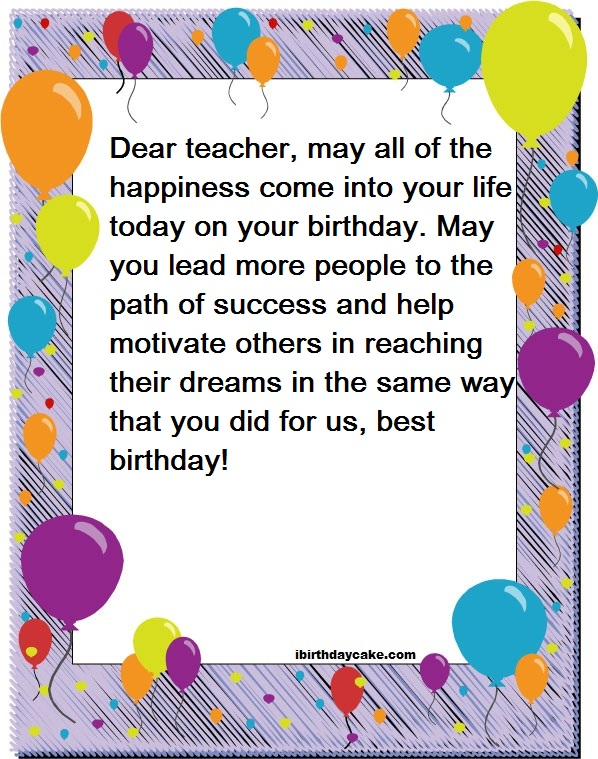 best happy birthday wishes to teacher messages