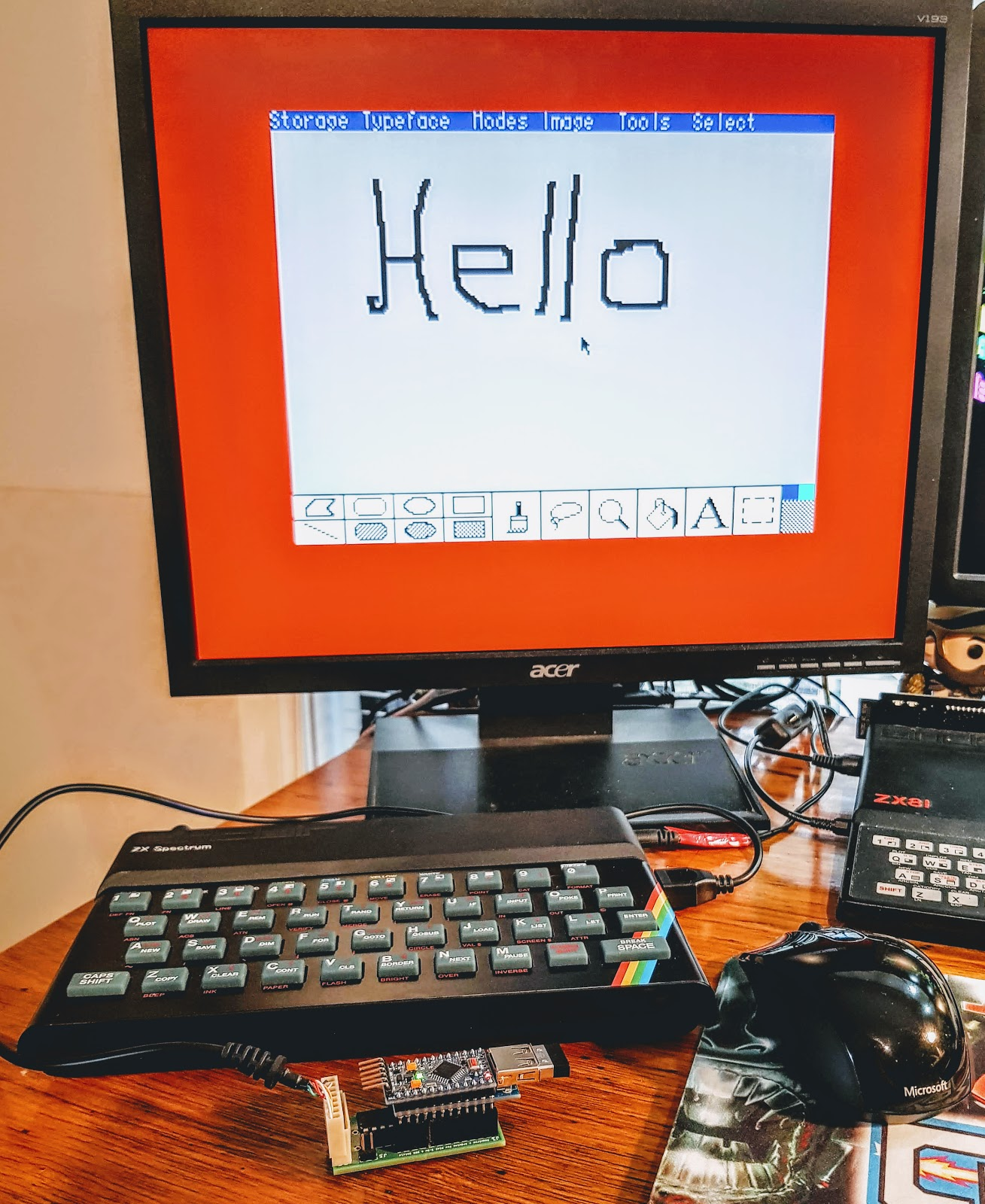 Zx81 Keyboard Adventure Circuit Diagram Using A Usb Mouse In The Artist 3