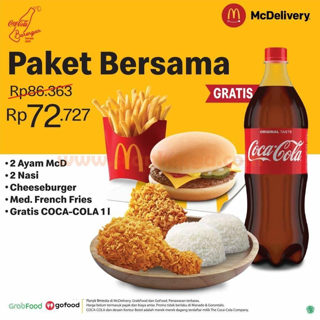 McDonalds Promo Paket Bersama + Gratis Coca Cola Rp 72.727
