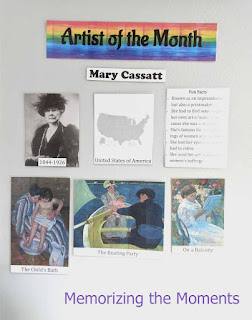 Printable Artist of the Month materials for homeschool