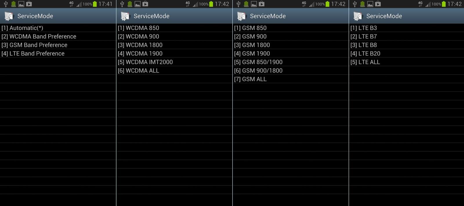 Samsung Service Mode