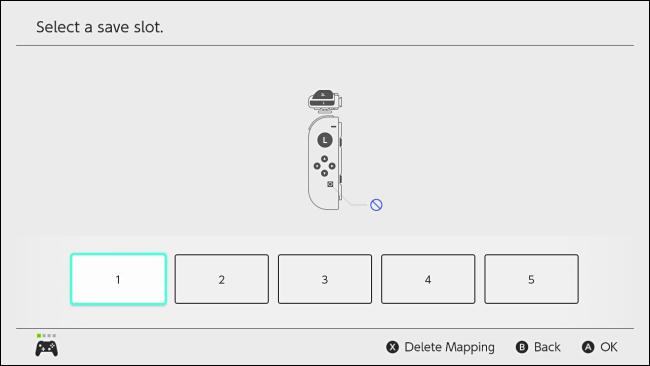 حدد فتحة تعيين الأزرار المخصصة على Nintendo Switch