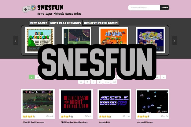 SNESFUN - Παίζουμε δωρεάν τα δημοφιλέστερα παιχνίδια του SNES της Nintendo