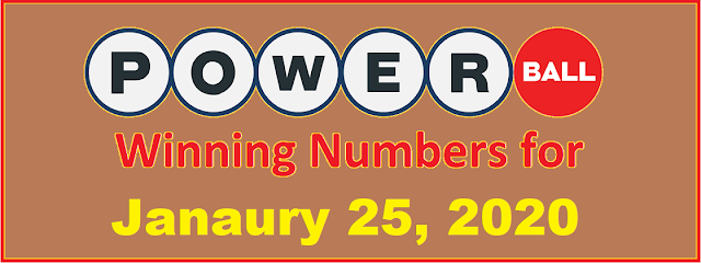 PowerBall Winning Numbers for Saturday, January 25, 2020
