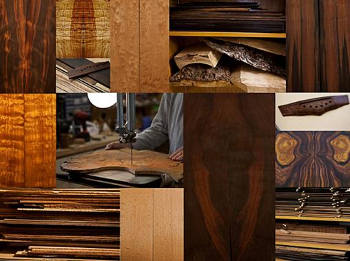 Đàn guitar chất lượng thường làm từ các loại gỗ trên