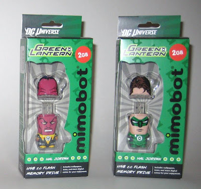 DC Comics x Mimoco USB Flash Drives - Sinestro and Hal Jordan Green Lantern Mimobots in Packaging