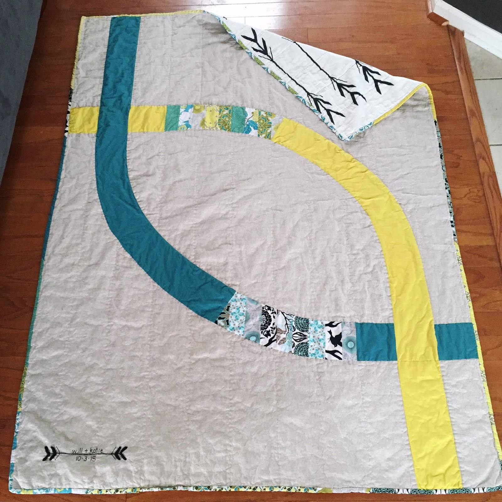 Sew Homegrown: Two Lives Linked: A Modern Wedding Ring Quilt