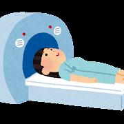 MRI・CTスキャンのイラスト(女性)