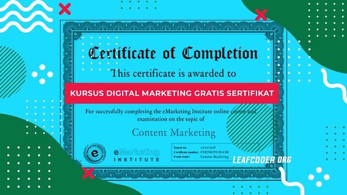 5 Kursus Digital Marketing Bersertifikat Gratis yang Wajib Anda Coba