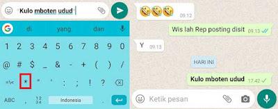 2 Cara Menebalkan Huruf Pada Tulisan Di Whatsapp Sangat Simpel