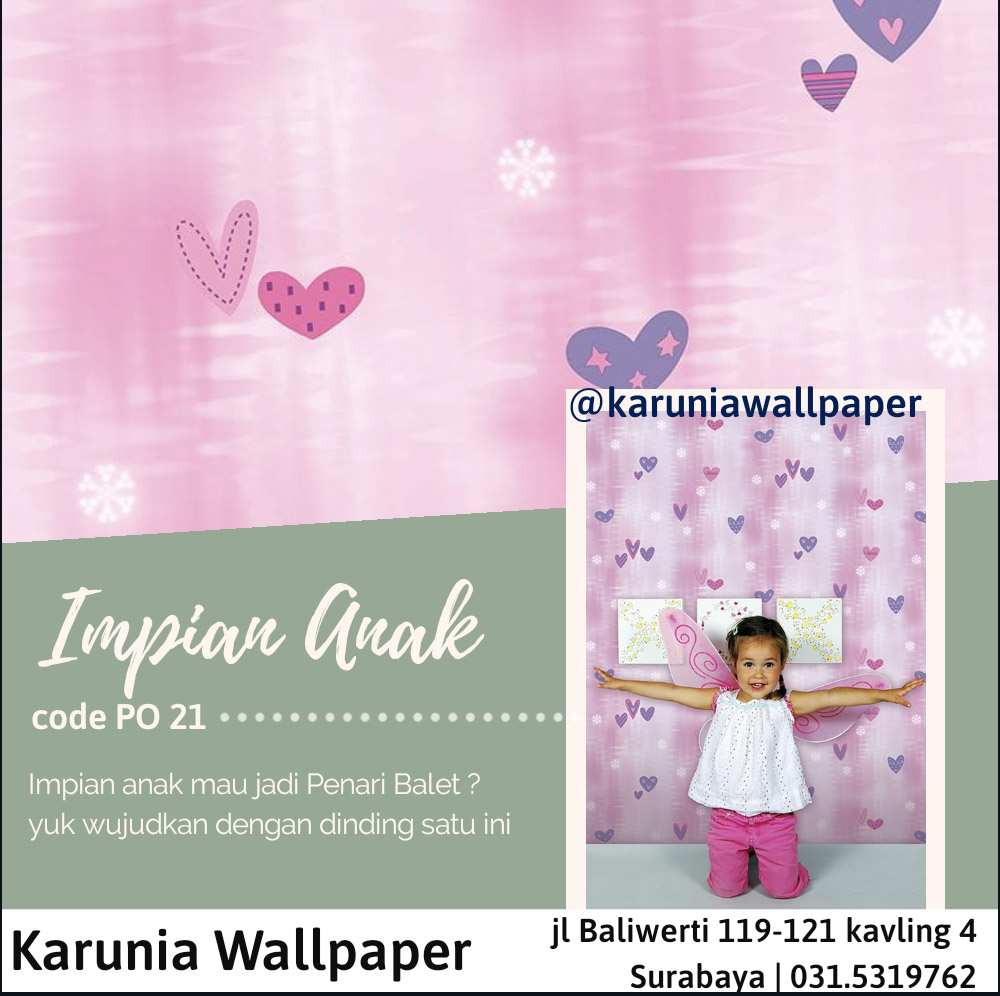 jual dinding wallpaper pink lucu