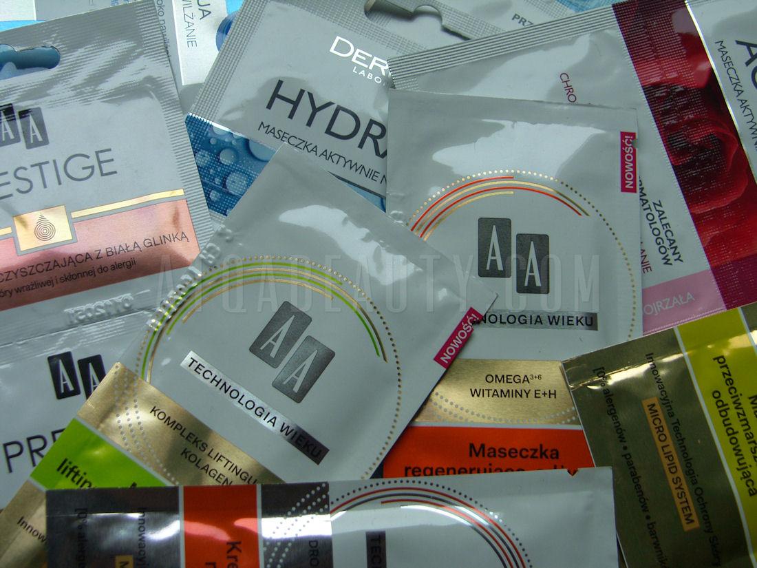 Pielęgnacja :: Saszetkowy maraton maseczkowy <br>– AA, Dax Cosmetics, Dermedic, Lirene