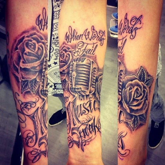 Half Sleeve Music Tattoos For Men