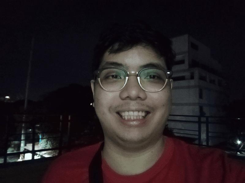 Huawei Y6p selfie low light