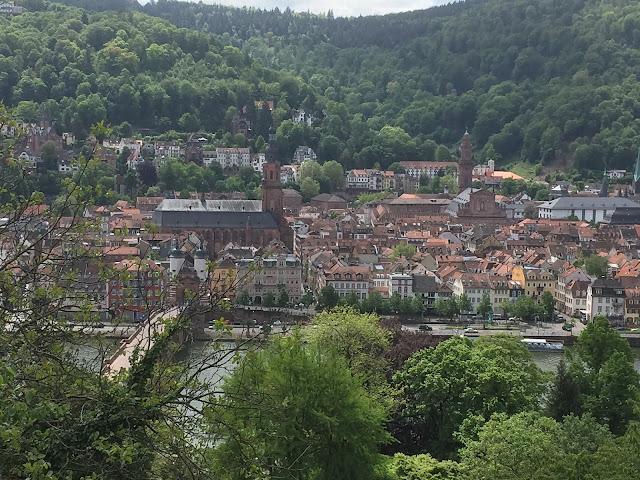Heidelberg Altstadt Panorama von oben