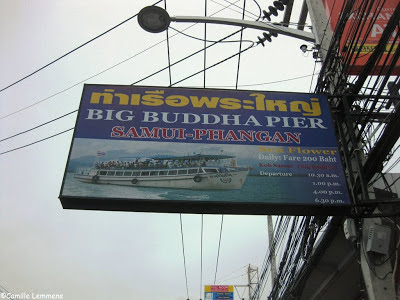 Big Buddha pier, street sign