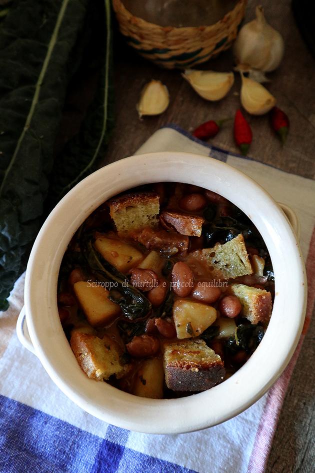 Zuppa di fagioli, cavolo nero e patate