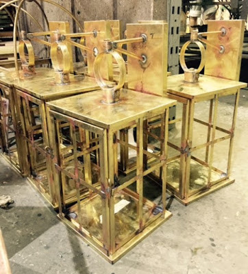 Catalan Brass Lanterns Await Finishing