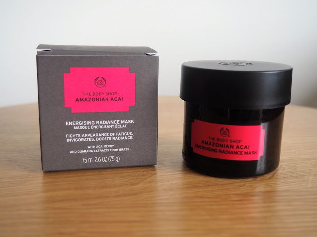 Body Shop superfood face mask in Amazonian Acai