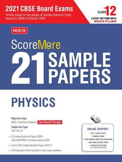 MTG Score More 21 Sample Papers Physics For CBSE Board Exam 2021
