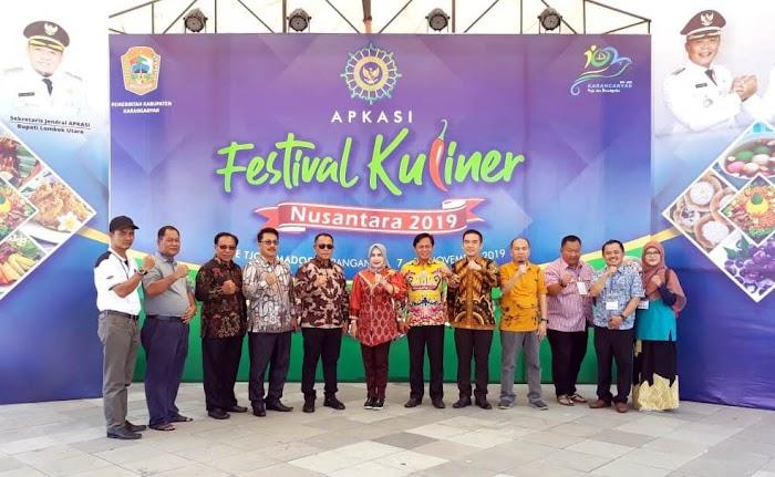 Plt.Bupati Nanang Ermanto Hadiri Festival Kuliner Nusantara Di Karang Anyar Jawa Tengah.